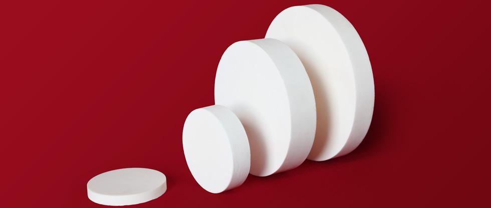 High purity alumina rods and discs