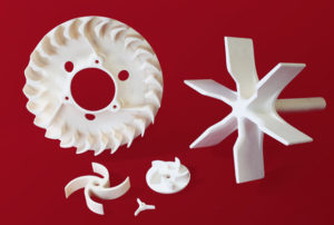 Custom manufactured alumina impellers