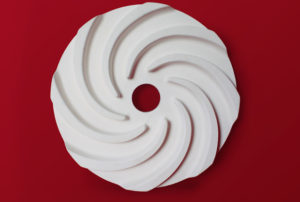 Custom wear resistant alumina impeller