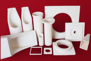 Custom alumina cyclone parts
