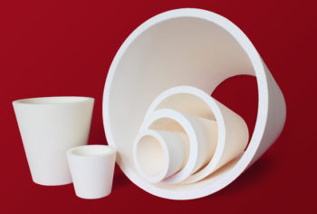 One piece alumina cyclone reducers